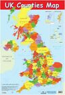 Poster UK Counties Map 40x60cm