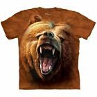 The Mountain 100 Cotton Unisex Adult T-Shirt - Grizly Growl NWT