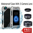 Iphone X Waterproof Case Heavy Duty for Iphone X 7 8 6 6s plus 5 + 3 COOL LENSES