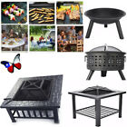 """New 22""""26""""30""""32"""" Fire Pit Square Round Outdoor FirePit Wood Burning Fire Bowl"""