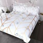 White & Gold Marbled Bed Covers - Duvet Cover and Pillow Set