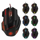 Keyboard and Wired Mouse Set LED Mechanical Gaming Rainbow Colorful Backlight
