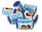 Personalised Mini Love Heart Sweets for Engaged with Image-Spotty Blue-Blue Foil