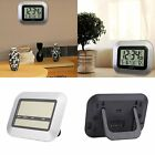 NEW Digital LCD Home Office Decor Wall Alarm Clock Thermometer temperature F1