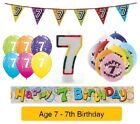 Happy 7th Birthday AGE 7 Party Balloons Banners Badges & Decorations Helium (1C)