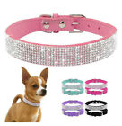 1X Pet Dog Cat Puppy Collar Bling Rhinestone Crystal Diamond Soft Leather Collar