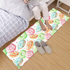 Watercolor Pattern with Donuts Area Rugs Bedroom Kitchen Living Room Floor Mat