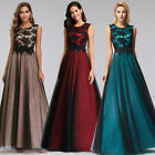 Ever-Pretty US Long Mesh Cocktail Prom Gown Bridesmaid Lace Evening Party Dress