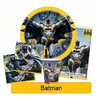 BATMAN Birthday Party Range - Tableware Balloons & Decorations DC Heroes{UQ}(1C)