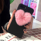 Girly 3D Soft Rubber Case Plush Love Heart f iPhone 11 Pro Max 8 Plus XS Max XR