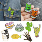 Fashion Lot Pins Cactus Cartoon Brooch Badges Enamel Jacket Jewelry DIY Gift New image