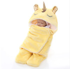 Newborn Infant Baby Swaddle Unicorn Double Layers Warm Thick Soft Wraps Bkanket