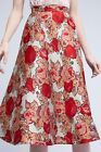 NWT ANTHROPOLOGIE RED ROSE JACQUARD SKIRT by RACHEL ANTONOFF 2