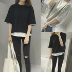 Loose Short Sleeve Blouse T-shirt Women Casual Summer Beach Tee Fashion Tops New