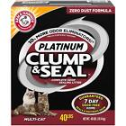 ARM & HAMMER Clump & Seal Platinum Litter, Multi-Cat, 27.5 lb ,40 lb