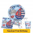 NAUTICAL 1st First BIRTHDAY Party Range Tableware Supplies Balloons Decorations