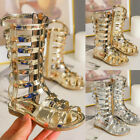 Cutout Gladiator Rivet Roman Sandals For Kids High Top Pentagram Shoes Fashion
