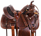 Western Saddle 14 16 Horse Barrel Racing Trail Hand Tooled Leather Tack