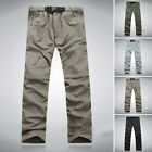 Mens Quick Dry Zip Off Convertible Pants Shorts Outdoor Hiking Trousers SZ M-3XL