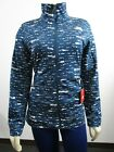 Womens The North Face TNF 100 Cinder Tenacious Full Zip Fleece Jacket Blue Dots