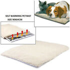 Self Heating Dog Cat Pet Bed Thermal Washable No Electric Blanket lambswool 2Cls