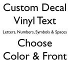 Custom Vinyl Lettering Decal Personalized Window Text Name Sign Sticker Car