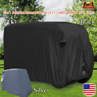 4 Person Driving Golf Cart Cover, fit Yamaha, EZ Go, Club Cart, Black/Silver, US