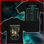 Disturbed Evolution World Tour 2019 T-shirt Black Cotton Music Tee S-6XL image