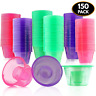 matana 150 Disposable Jager Bomb Shot Glasses - Hard Plastic Bomb Shot Cups in 3
