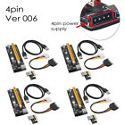 4 Sets USB 3.0 PCI-E 1 to 16X Extender Riser Adapter for Bitcoin Mining SATA