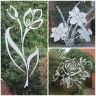 Silver Etch Flower Stickers, Decal For Patio Door/windows, Showers.