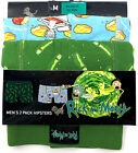 Rick and Morty Unterwäsche Set 2 Hipster Shorts Herren Comic Unterhose Slip XS-L