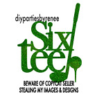 Sixty GOLF Theme Cake Topper - Assorted Colours - Tee - 60 - Sixtieth Cake