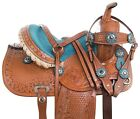 Used Kids Saddle 10 12 13 Cute Show Rodeo Pleasure Trail Western Horse Pony Tack