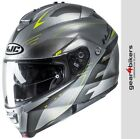 HJC IS-Max 2 Cormi Silver Fluo Yellow Motorcycle Flip Up Front Modular Helmet