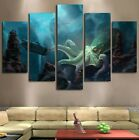 5Pc Kraken Octopus Under the Sea Painting Canvas Modern Wall Art Home Decor