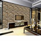 3D Wall Paper Brick Stone Rustic Effect Self-adhesive Wall Stickers