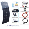 100w Solar Panel System for Outdoor Home Garden Lawn Car RV Yatch Truck Charging