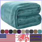VEEYOO Luxury Flannel Fleece Blankets Microfiber Faux Fur Lightweight Blankets image