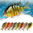 Multicolor Plastic Multi Jointed Hard Fishing Lure Lifelike 3D Fishing Bait 8cm