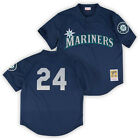 Ken Griffey Jr 1995 Seattle Mariners Authentic Mesh BP Jersey by Mitchell
