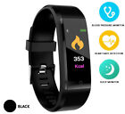 BLUETOOTH SMART WATCH BAND HEART RATE BRACELET FIT BIT UK BLOOD PRESSURE MONITOR
