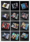 Wholesale PU short wallet colorful printing of Anime FAIRY TAIL /ONE PIECE Gift