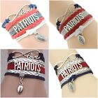 Multi Style New England Patriots Infinity Love Red White Bracelet Free Ship New $8.99 USD on eBay
