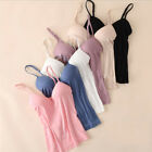 Women Adjustable Spaghetti Strap Camisole With Built in Shelf Bra Vest Tank Tops