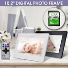 10.2'' HD 1024x600 Digital Photo Frame Clock Music Player + Remote + 16G SD Card