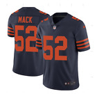 Khalil Mack 52 Chicago Bears Mens Navy Color Rush Home Jersey