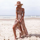 CA Boho Womens Holiday Off Shoulder Floral Maxi Ladies Summer Beach Party Dress