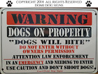 Metal Warning Dogs Sign For FENCE ,Beware Of Dog 8