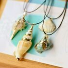 Ocean Sea Shell Conch Mermaid Natural Nautical Fashion Pendant Necklace